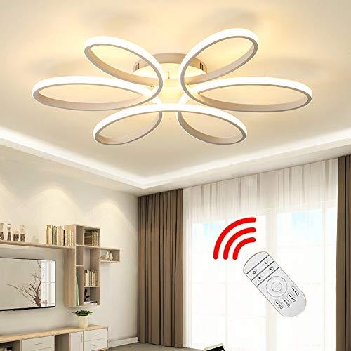 LED Deckenleuchte, 85W Creative Flower-shaped Deckenleuchte, Acryl Lampenschirm Modern Elegant Matt Aluminium Deckenleuchte Wohnzimmer Schlafzimmer Kinderzimmer Deckenleuchte L59cm * H11cm (Dimmable)