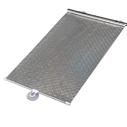 Sommer-Isoliervorhänge, teleskopischer Sonnenschutz-Sonnenschutzrollo-Glasfenster-Sonnenschutz passend for Heckscheibe (Color : Silver, Size : 45 * 125CM)