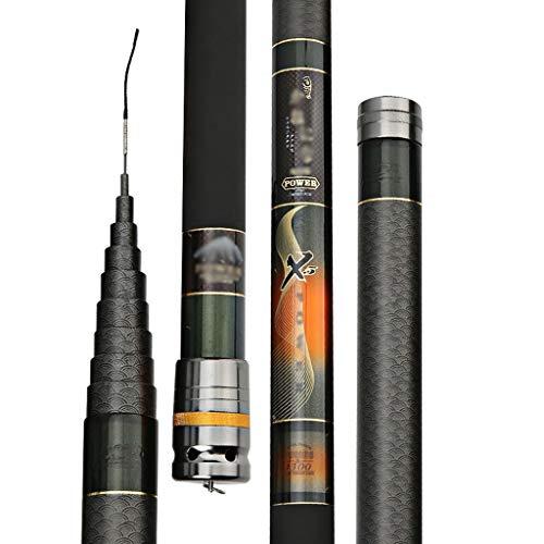 Canna da Pesca in Carbonio Ultraleggera, 8 9 10 11 12 13 14 Metri Super Hard 28 Strumenti di Pesca Portatili Retrattili (Dimensioni : 14)
