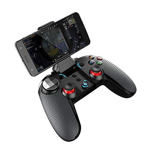 FXQIN Controlador de Juegos inalámbrico Bluetooth Gamepad, Joystick y Soporte 3 en 1, Mango de Soporte de Tableta para teléfono Inteligente para Android Windows PC TV, Consola de Juegos USB