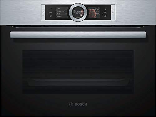 Bosch Serie 8 CSG636BS3 - Horno (Medio, Horno eléctrico, 47 L, 47 L, 30-250 °C, EcoClean (posterior))