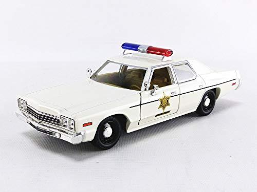 1975 Dodge Monaco Cream Hazzard County Sheriff 1/24 Diecast Model Car by Greenlight 84094