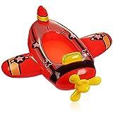 com-four® Figura de natación con diseño de avión - Bote de Goma Inflable para niños - colchón de Aire para divertirse en el baño - Figura de baño para la Playa y la Piscina (Avion Rojo)