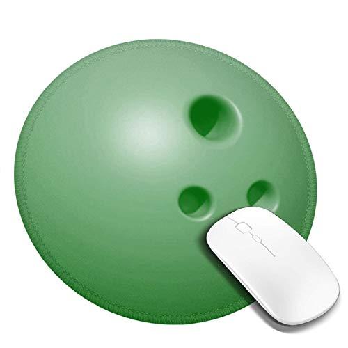Mauspad Coole grüne Bowlingkugel, 20cm Runde Gaming Mauspad Matte Reibungslos Weich Rutschfester Gummi Basis für Pc Laptop
