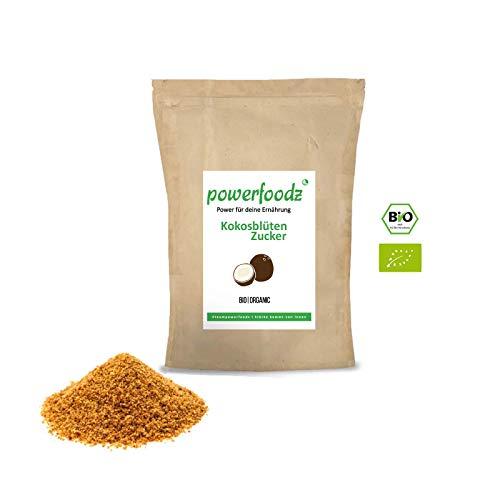 Powerfoodz - Bio Kokosblütenzucker Reiner Kokos Zucker aus Fairem Handel (Fair Trade) (2 kg)
