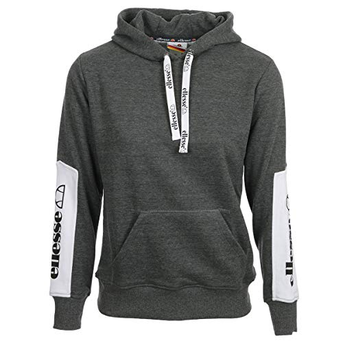 ellesse Eh F Hoodie Capuche Bicolore, Sweat-Shirt, Grey, XS