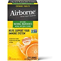 64-Count Airborne Vitamin C 1000mg Zesty Orange Chewable Tablets