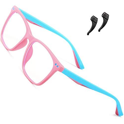 ATTCL blaulichtfilter brille kinder computerbrille zum Alter 3-10 Blockieren von UV-Kopfschmerz Gaming Brille 5103 pink