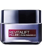 L'Oréal Paris Revitalift Filler Crema de Día Revitalizante, Antiarrugas y Volumen, Anti-edad, Con Ácido Hialurónico, 50 ml