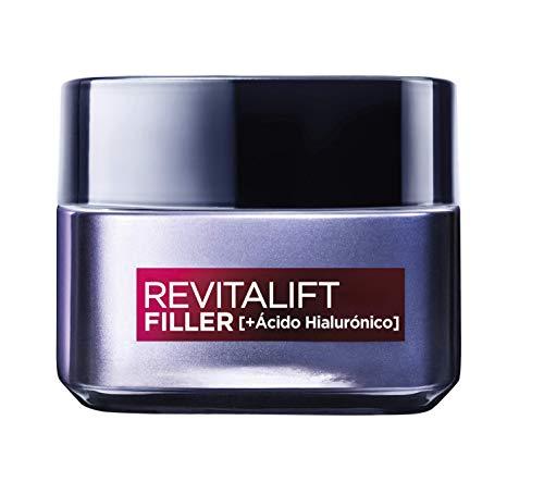 L\'Oréal Paris Revitalift Filler Crema de Día Revitalizante, Antiarrugas y Volumen, Anti-edad, Con Ácido Hialurónico, 50 ml