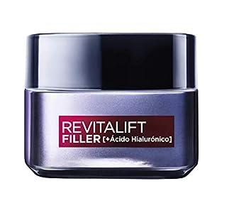 L'Oréal Paris Crema de Día Rellenadora Anti-edad Revitalizante Revitalift Filler, Antiarrugas y Volumen, Con Ácido Hialurónico Concentrado, Acabado no graso, 50 ml