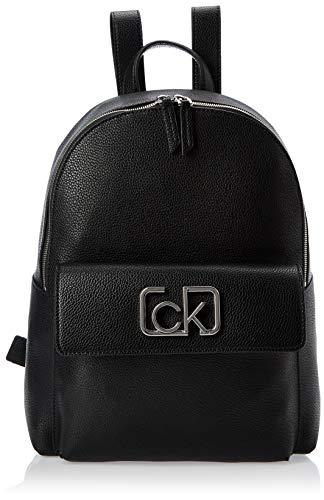 Calvin Klein Damen Ck Cast Backpack Schultertasche, Schwarz (Black), 13x35x28 Centimeters