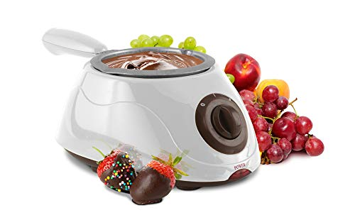 Eternal Living Chocolate Melting Pot Kit   Electric Chocolate Maker for Home Made Candy Butter Cheese with Forks Spatulas Molds Drying Rack, White