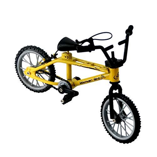 Mini-Finger-BMX Set Ventilatori per Bici Giocattolo Lega Finger BMX Funzionale Bambini Bicicletta modle Finger Bike Eccellente qualità Giocattoli BMX Regalo - Giallo