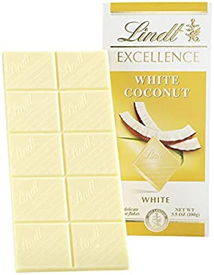 Lindt Excellence Bar - White Chocolate Coconut - 12 Count