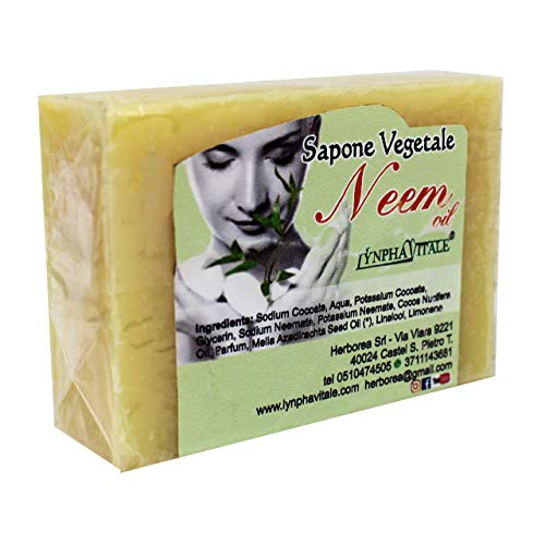 Savon naturel de Neem fabriqué exclusivement à partir d'huile de Neem et d'huile de coco - Pour traiter l'acné et toutes les impuretés de la peau - Action protectrice, régénérante et restructurante