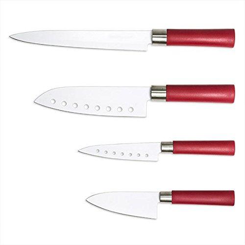Eurowebb Set Couteaux Inoxydable avec revêtement en céramique (Ensemble de 4) - Cuisine