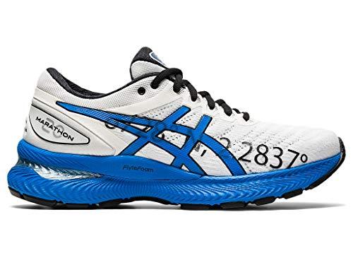 ASICS Damen Gel-Nimbus 22 Laufschuhe, Weiß (Weiß/Electric Blue), 39 EU