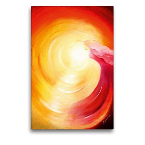 CALVENDO Premium Textil-Leinwand 50 x 75 cm Hoch-Format Seelenreise ins Licht, Leinwanddruck von Marita Zacharias
