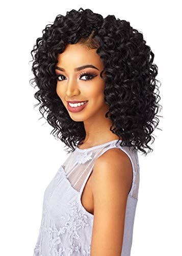 [3Packs Deal] Sensationnel Lulutress Crochet Braiding Hair Extension - 2X DEEP TWIST 8 (1B [Off Black])