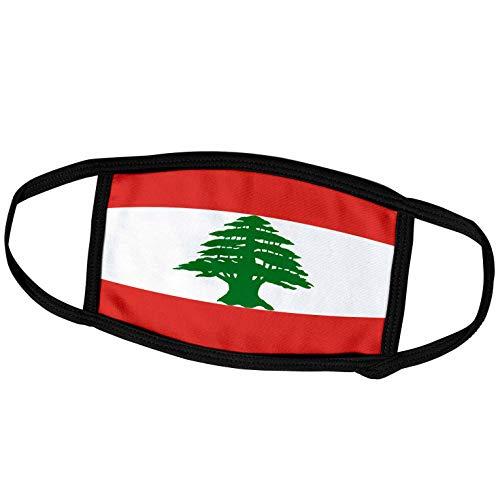 3dRose fm_28266_1 Face Mask Large Gesichtsmaske, Polyester, Libanon-Flagge