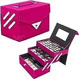 VER Beauty Pink Velvet 72pcs Makeup Gift Set with 2 Extendable Trays - VMK1504