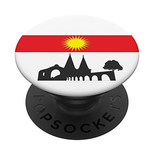 Yezidi Ezidi Yazidisch Lalish PopSockets PopGrip: Ausziehbarer Sockel & Handgriff für Handys/Tablets mit Tauschbarem Top