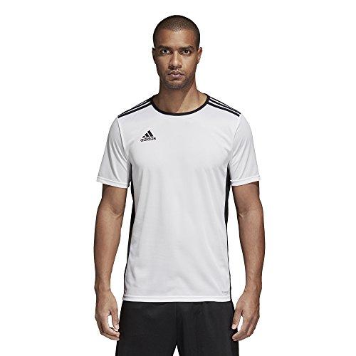 adidas Mens Soccer Entrada 18 Jersey, White/Black, X-Large