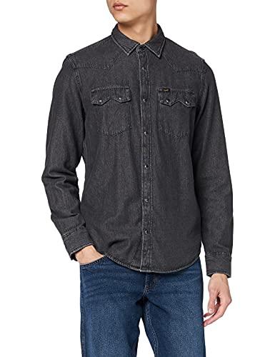 Lee Rider Shirt Camisa Casual, Gris (Alloy Grey JB), X-Large para Hombre