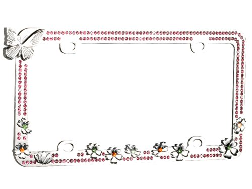 license plate frame with flowers - 3