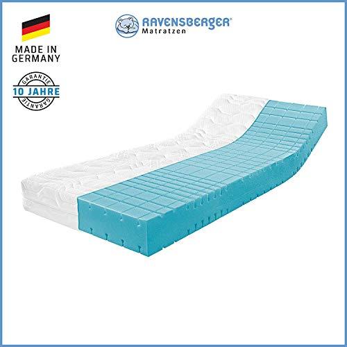 RAVENSBERGER STRUKTURA-MED® 60 | 7-Zonen-HR-Premium-Kaltschaummatratze | H3 RG 60 (80-120 kg) | Made IN Germany - 10 Jahre Garantie | MEDICORE silverline®-Bezug | 160 x 220 cm