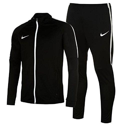 Sport Academy Warm Up 2-teiliger Trainingsanzug für Herren, Jacke und Hose Gr. Large, schwarz / weiß