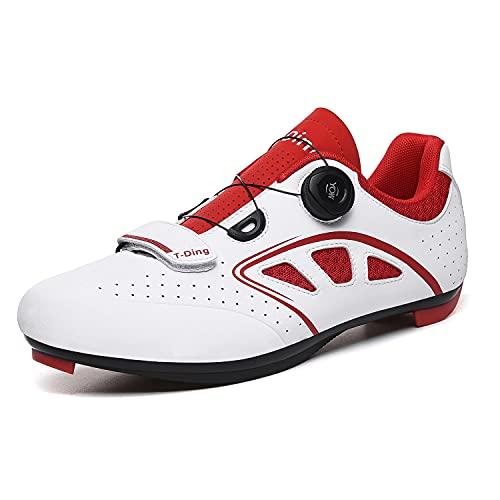 Zimrobin Zapatillas de Ciclismo para Carretera, con Suela de Carbono y Sistema rotativo de precisión,Calzado de Ciclismo y Senderismo con AmortiguacióN Antideslizante