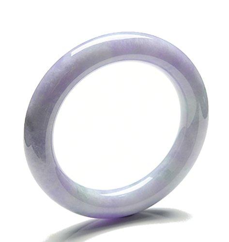 MPH-jewelry Redondo jadeíta Jade Pulsera–55mm (grado Jade) lavanda