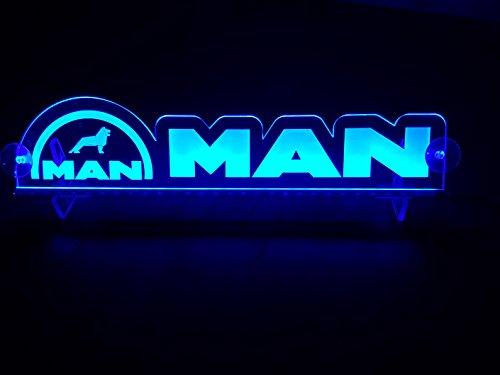 24?V LED Light Neon plaque pour camion Trucker Bleu illuminant Sign Accessoires de d?coration de table Cabine grav? au laser 24?V/5?W