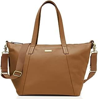 Storksak Noa Leather Diaper Bag, Tan, One Size