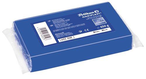 Pelikan 602508 - Knete Nakiplast Block, 650 g, blau