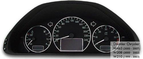 Tachodekorset Chrom für Benz W210 nach Facelift (1999 - 2003)
