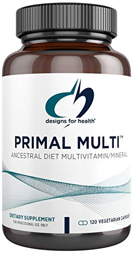 Designs for Health Primal Multi - Paleo-Friendly Multivitamin Supplement with Active Folate, Tocotrienols, Lutein + Broccoli Seed, Immune Support Vitamins D (2000 IU), C + Zinc (120 Capsules)