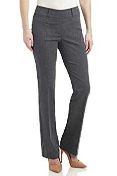 Rekucci Women s Ease in to Comfort Fit Barely Bootcut Stretch Pants  8 Charcoal