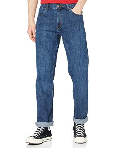 Wrangler Authentic Straight Jeans, Blu (Dark Stone 098), 36W / 32L Uomo
