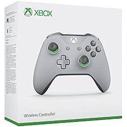 Microsoft - Mando Inalámbrico Gris Claro Con Acentos Verdes (Xbox ...