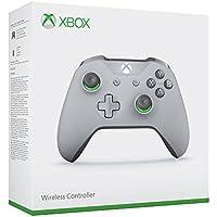 Microsoft WL3-00061 , Controlador inalámbrico para Xbox One, Gris / Verde