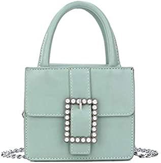 TOOGOO Elegant Small Handbag Ladies New Wallet and Handbag Pearl Chain Single Shoulder Diagonal Package Yellow