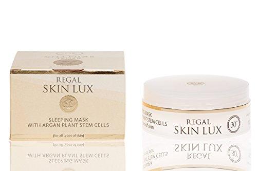Regal Skin Lux Intensive anti-rides Régénérant Sommeil Masque du Visage avec des Cellules Souches Plantes Argan Tous les Types de Peau