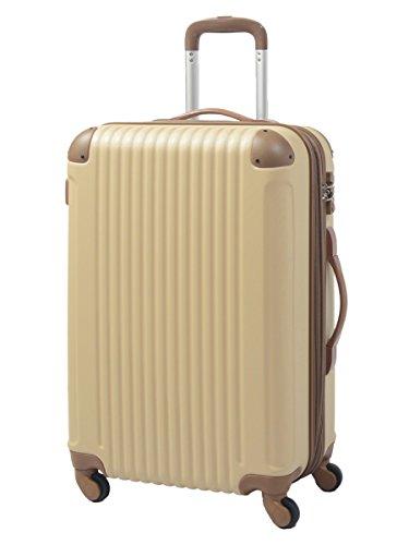 S型 アーモンド×ブラウン / FK1212-1(POP・DO) 機内持込 スーツケース キャリーバッグ TSAロック搭載 超軽量