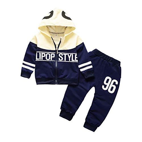 Gyratedream Baby Kleidung Set Junge Mädchen Trainingsanzüge Brief Druck Zipper Hoodie Jacke Oberbekleidung + Hosen Sporthose 2Pcs Outfits für 0-4 Jahre Kinder