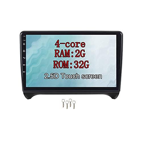 W-bgzsj Android 9.0 Coche Estéreo 9'en Dash Autoradio 4-Core RAM 2G ROM ROM 32G Head Unit Sat Nav CO COCE GPS Navegación para Audi TT (2006-2015) (Color : 9 Inch)