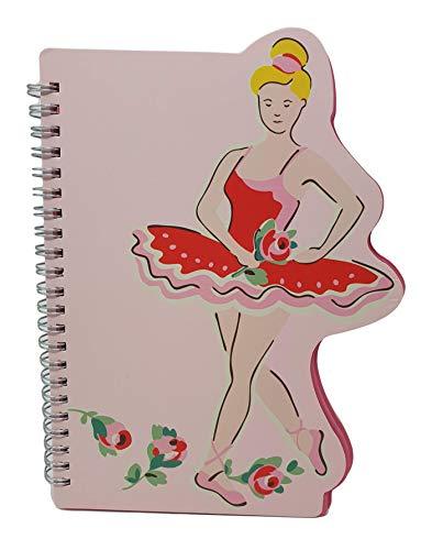 Cath Kidston Kids Ballerina Shaped Spiraal Notebook Pad in Ballerina Rose Design in Roze
