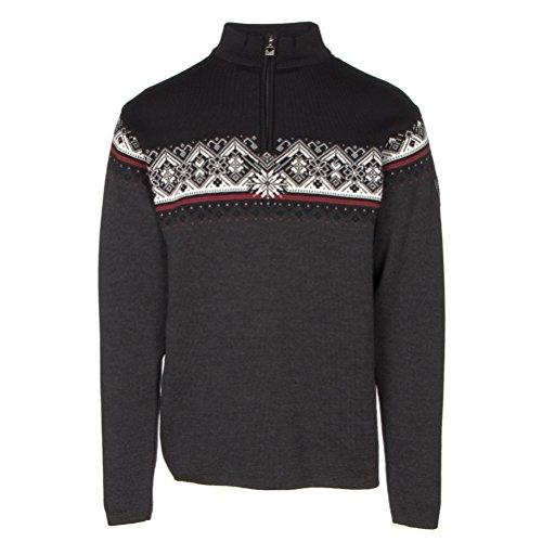 Dale of Norway - Pullover da Uomo St. Moritz, Colore Antracite Scuro/Lampone/Nero/Bianco Sporco, Taglia M, 91391-E